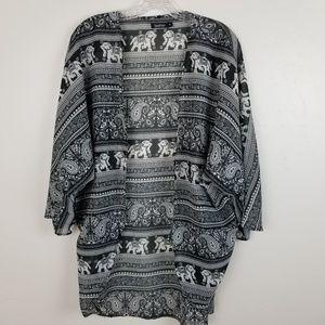BOOHOO - tilly elephant coverup kimono